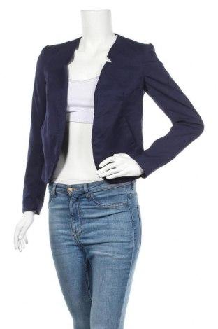Дамско сако H&M Divided, Размер S, Цвят Син, 64% памук, 34% вискоза, 2% еластан, Цена 15,23лв.