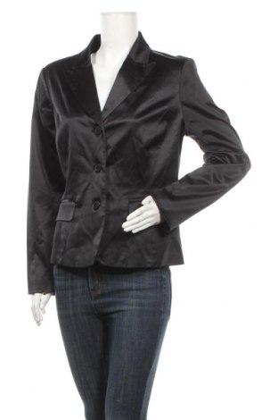 Дамско сако Isaac Mizrahi, Размер XL, Цвят Черен, 53% памук, 44% полиестер, 3% еластан, Цена 18,11лв.