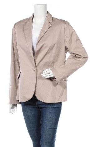 Γυναικείο σακάκι Just For You, Μέγεθος XXL, Χρώμα  Μπέζ, 97% βαμβάκι, 3% ελαστάνη, Τιμή 15,46€