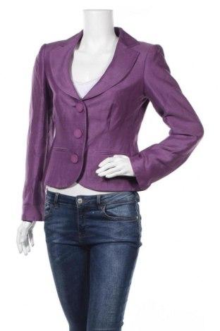 Дамско сако Madeleine, Размер M, Цвят Лилав, 44% коприна, 32% лен, 24% памук, Цена 71,82лв.