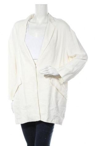 Дамско сако Mango, Размер M, Цвят Бял, 93% вискоза, 7% полиестер, Цена 31,16лв.