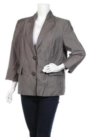 Дамско сако Michele Boyard, Размер XL, Цвят Сив, 47% вискоза, 43% лен, 10% полиамид, Цена 19,85лв.