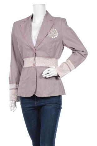 Дамско сако Repeat, Размер XL, Цвят Лилав, 55% лен, 45% памук, Цена 39,69лв.