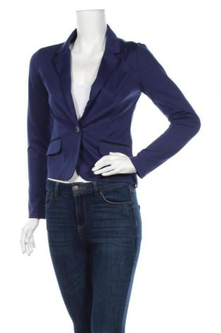 Дамско сако Sinsay, Размер S, Цвят Син, 80% полиестер, 17% вискоза, 3% еластан, Цена 19,85лв.