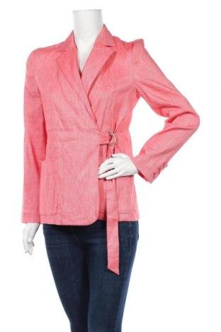 Sacou de femei Stefanel, Mărime M, Culoare Roz, 56% in, 22% bumbac, 21% viscoză, 1% elastan, Preț 106,06 Lei