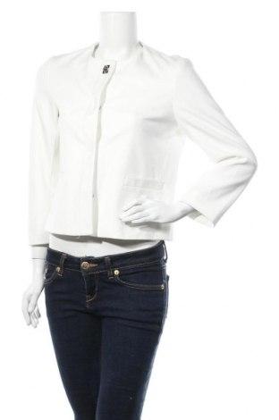 Дамско сако Zara, Размер M, Цвят Бял, 63% полиестер, 32% вискоза, 5% еластан, Цена 20,79лв.