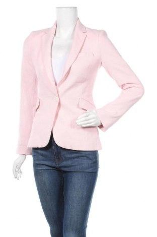 Дамско сако Zara, Размер XS, Цвят Розов, 66% полиестер, 31% вискоза, 3% еластан, Цена 38,90лв.