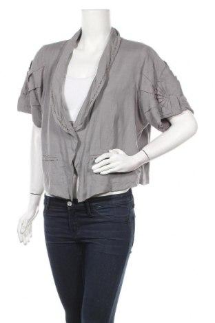 Γυναικείο σακάκι Zay, Μέγεθος L, Χρώμα Γκρί, 50% βισκόζη, 40% βαμβάκι, 10% λινό, Τιμή 5,46€