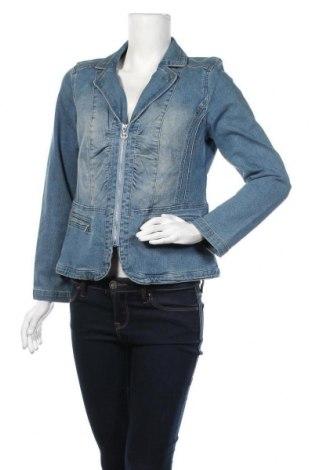 Дамско яке, Размер M, Цвят Син, 78% памук, 20% полиестер, 2% еластан, Цена 8,11лв.