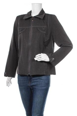 Дамско яке, Размер L, Цвят Сив, 63% полиестер, 32% вискоза, 5% еластан, Цена 10,40лв.
