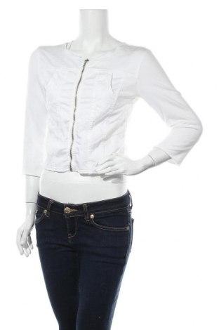 Дамско яке Met, Размер M, Цвят Бял, 96% памук, 4% еластан, Цена 4,79лв.