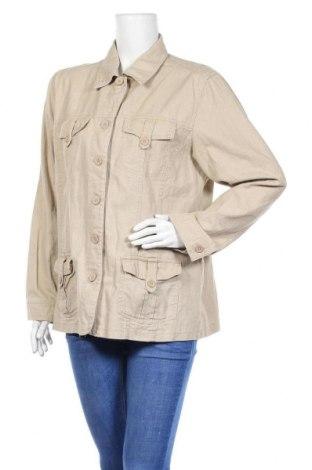 Дамско яке Ms Mode, Размер XL, Цвят Бежов, 55% лен, 45% памук, Цена 35,91лв.