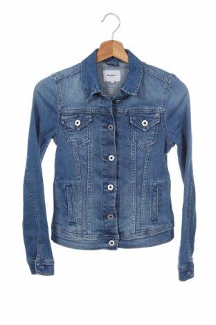 Дамско яке Pepe Jeans, Размер XS, Цвят Син, 98% памук, 2% еластан, Цена 80,15лв.