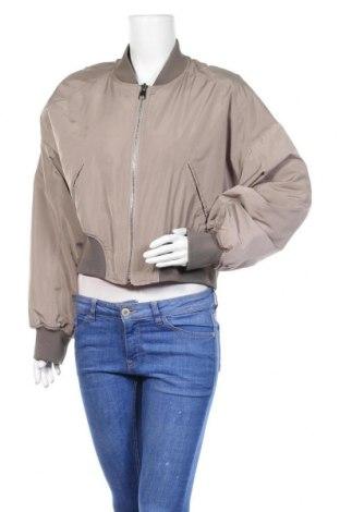 Дамско яке Zara, Размер L, Цвят Сив, Полиестер, Цена 8,44лв.