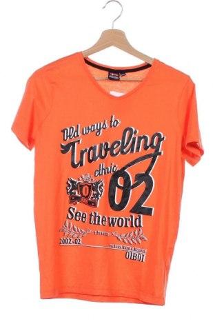 Παιδικό μπλουζάκι, Μέγεθος 12-13y/ 158-164 εκ., Χρώμα Πορτοκαλί, Βαμβάκι, Τιμή 3,64€