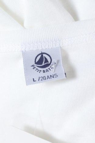 Παιδικό μπλουζάκι Petit Bateau, Μέγεθος 15-18y/ 170-176 εκ., Χρώμα Λευκό, Βαμβάκι, Τιμή 11,91€