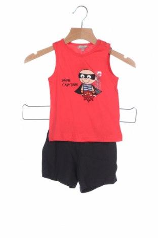 Детски комплект Grain De Ble, Размер 12-18m/ 80-86 см, Цвят Червен, Памук, Цена 26,95лв.