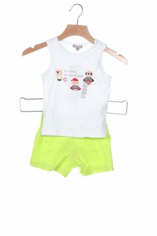 Детски комплект Grain De Ble, Размер 9-12m/ 74-80 см, Цвят Бял, Памук, Цена 26,95лв.