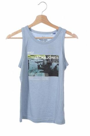 Μπλουζάκι αμάνικο παιδικό Jack & Jones, Μέγεθος 11-12y/ 152-158 εκ., Χρώμα Μπλέ, Βαμβάκι, Τιμή 7,92€