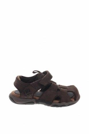 Παιδικά σανδάλια Timberland, Μέγεθος 23, Χρώμα Καφέ, Γνήσιο δέρμα, κλωστοϋφαντουργικά προϊόντα, Τιμή 30,67€