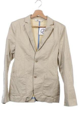 Παιδικό σακάκι H&M, Μέγεθος 15-18y/ 170-176 εκ., Χρώμα  Μπέζ, 98% βαμβάκι, 2% ελαστάνη, Τιμή 4,50€