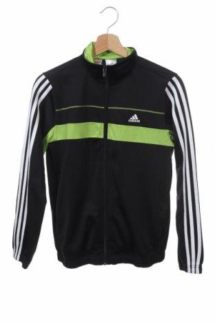 Детско спортно горнище Adidas, Размер 13-14y/ 164-168 см, Цвят Черен, Полиестер, Цена 27,56лв.