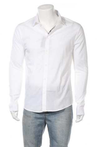 Мъжка риза Eleven Paris, Размер M, Цвят Бял, 96% памук, 4% еластан, Цена 17,80лв.