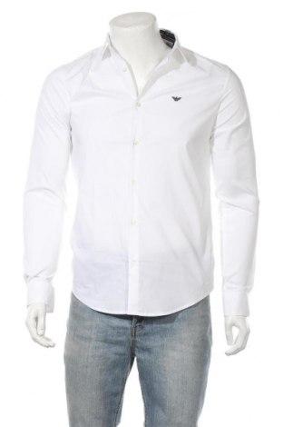 Мъжка риза Emporio Armani, Размер M, Цвят Бял, 76% памук, 21% полиамид, 3% еластан, Цена 94,50лв.