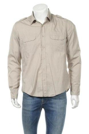 Мъжка риза H&M L.O.G.G., Размер M, Цвят Бежов, Памук, Цена 18,00лв.