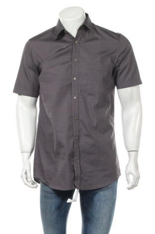 Мъжка риза Wolczanka, Размер M, Цвят Сив, 80% памук, 20% полиестер, Цена 8,82лв.