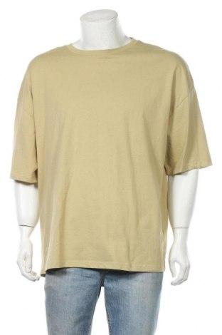 Ανδρικό t-shirt Bershka, Μέγεθος L, Χρώμα Πράσινο, Βαμβάκι, Τιμή 12,06€