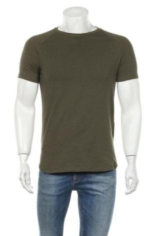Ανδρικό t-shirt Bershka, Μέγεθος S, Χρώμα Πράσινο, 70% βαμβάκι, 30% πολυεστέρας, Τιμή 11,13€