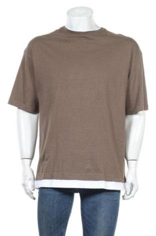 Ανδρικό t-shirt Bershka, Μέγεθος M, Χρώμα Πράσινο, Τιμή 12,06€