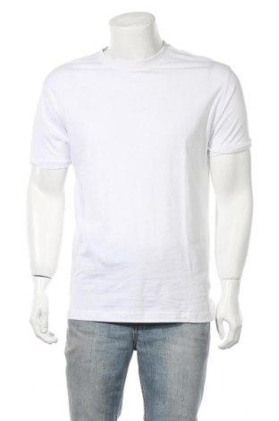 Ανδρικό t-shirt Bershka, Μέγεθος S, Χρώμα Λευκό, Τιμή 12,06€
