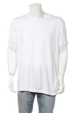 Ανδρικό t-shirt Bershka, Μέγεθος XXL, Χρώμα Λευκό, Βαμβάκι, Τιμή 12,99€