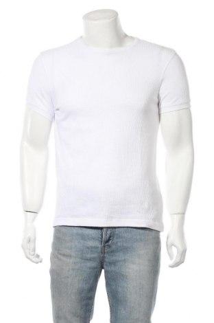 Ανδρικό t-shirt Bershka, Μέγεθος S, Χρώμα Λευκό, 60% βαμβάκι, 40% πολυεστέρας, Τιμή 12,99€