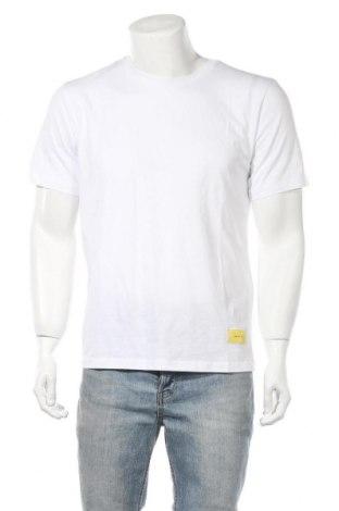 Мъжка тениска Gestuz, Размер M, Цвят Бял, Памук, Цена 16,17лв.