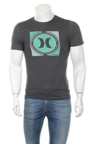 Мъжка тениска Hurley, Размер S, Цвят Сив, 50% памук, 50% полиестер, Цена 21,74лв.