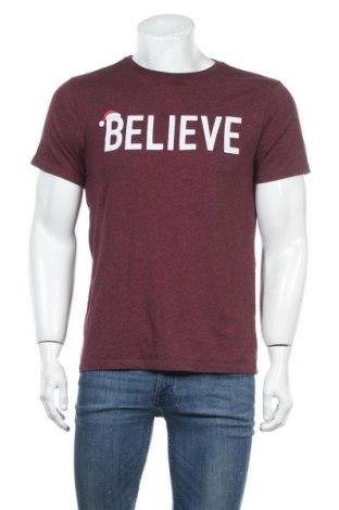 Мъжка тениска Old Navy, Размер M, Цвят Червен, 60% памук, 40% полиестер, Цена 17,85лв.