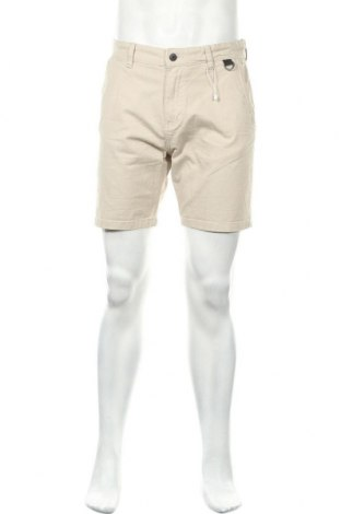 Ανδρικό κοντό παντελόνι Bershka, Μέγεθος M, Χρώμα  Μπέζ, 98% βαμβάκι, 2% ελαστάνη, Τιμή 17,16€