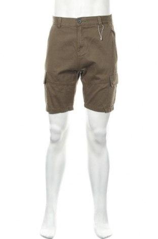 Ανδρικό κοντό παντελόνι Bershka, Μέγεθος S, Χρώμα Πράσινο, Βαμβάκι, Τιμή 17,16€
