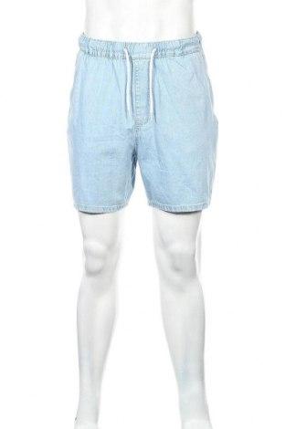 Ανδρικό κοντό παντελόνι Bershka, Μέγεθος L, Χρώμα Μπλέ, Βαμβάκι, Τιμή 18,09€