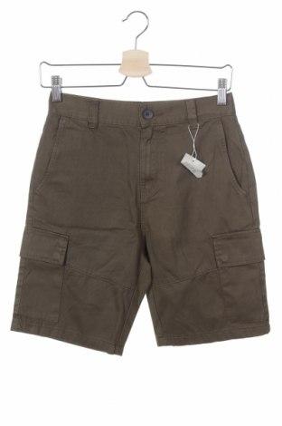 Мъжки къс панталон Bershka, Размер XS, Цвят Зелен, Памук, Цена 13,65лв.
