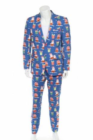 Costum de bărbați Oppo Suits, Mărime M, Culoare Albastru, Poliester, Preț 82,54 Lei