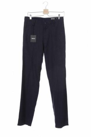 Ανδρικό παντελόνι DKNY, Μέγεθος S, Χρώμα Μπλέ, 50% βαμβάκι, 30% μαλλί, 20% πολυεστέρας, Τιμή 24,39€