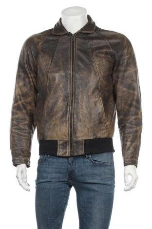 Мъжко кожено яке, Размер S, Цвят Кафяв, Естествена кожа, Цена 68,04лв.