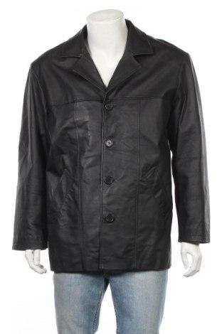Ανδρικό δερμάτινο μπουφάν, Μέγεθος M, Χρώμα Μαύρο, Γνήσιο δέρμα, Τιμή 7,29€
