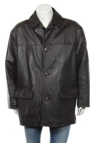 Ανδρικό δερμάτινο μπουφάν, Μέγεθος XL, Χρώμα Καφέ, Γνήσιο δέρμα, Τιμή 16,37€