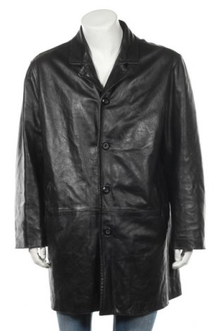 Ανδρικό δερμάτινο μπουφάν, Μέγεθος L, Χρώμα Μαύρο, Γνήσιο δέρμα, Τιμή 11,69€