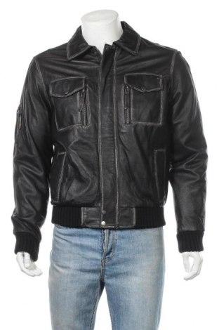 Ανδρικό δερμάτινο μπουφάν 4 Wards, Μέγεθος XS, Χρώμα Μαύρο, Γνήσιο δέρμα, Τιμή 17,66€
